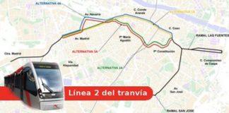 recorridos tranvia zaragoza linea 2