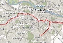 linea 2 tranvia de zaragoza calles