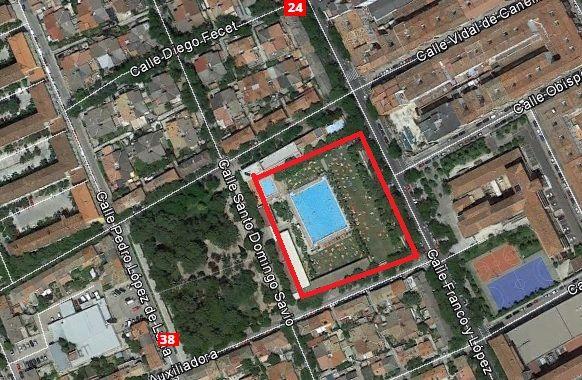 ciudad jardin piscinas como ir mapa